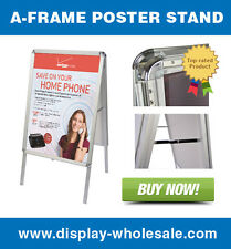 A-Frame Snap Open Sidewalk Poster Stand Sign
