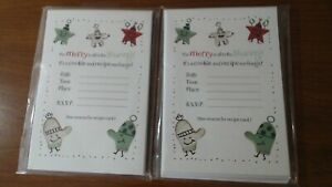 16 Hallmark Cookie and Recipe Exchange Party Event Invitation Sealed (2 packs)
