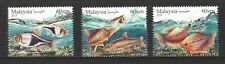 MALAYSIA 2018 ORNAMENTAL FISHES COMP. SET OF 3 STAMPS MINT MNH UNUSED CONDITION
