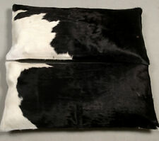COWHIDE LEATHER CUSHION COVER RUG COWHIDE (2 Cushion Pillow Covers) C-326