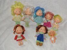 Lot 8 Vintage Strawberry Shortcake Dolls Lemon Meringue Blueberry Muffin