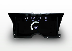 1992-1994 Chevy Truck Digital Dash Panel Cluster Gauges WHITE LEDs