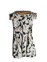 ZARA Size M Pastel Floral Strapless V Neck Fit Flare Dress Botannical