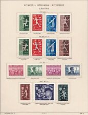 1919/1940 LITUANIA/LITAUEN/LIETUVA, collection on 21 sheets  MLH/* (FEW USED)...