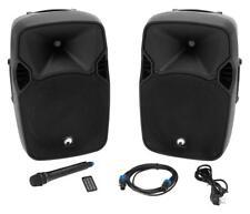 Omnitronic XFM-212AP Aktives Lautsprecherset Aktivbox Passivbox Mikrofon MP3 SD