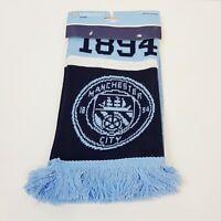 MANCHESTER CITY FC Premier League Football Team Scarf NEW *Official Merchandise*