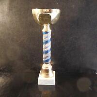 Coupe trophée métal doré socle marbre Design XXe Pop Art Déco France N3319