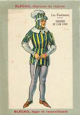 NOBLE SEIGNEUR DE L'AN 1360  UNIFORME  COSTUME  1930s CHROMO