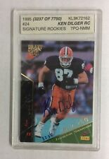 1995 SIGNATURES ROOKIES KEN DILGER AUTOGRAPHED RC #24- #3237/7750  ASA 7 PQ- NMM