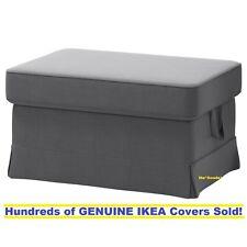 Ikea EKTORP Footstool / Ottoman Slipcover Cover NORDVALLA DARK GRAY New! Sealed!