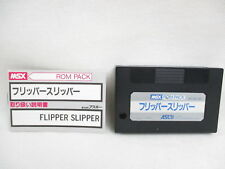 MSX FLIPPER SLIPPER No Case Cartridge GOOD Condition Japan Game msx
