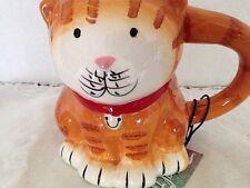 Boston Market Figural Fun Cat Mug 16 Oz Orange Tabby Cat Coffee Tea Collectible