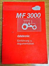 Betriebsanleitung MF 3000 Datatronic Einführung & Argumentation