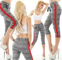 Women's Business Checked Trousers Wide Waistband With Belt Office Pants Siz 6-14