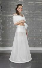 (R2-190) Reifrock Petticoat Unterrock 1 Reifen elastischer Bund Hochzeit NEU