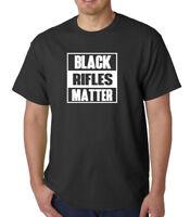 Black Rifles Matter T-Shirt Guns Rights AR-15 AK47 Gun 2nd Amendment Tee Shirt