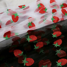 Shiny Strawberry Mesh Fabric Tulle Voile DIY Craft Dress Skirt Curtain New