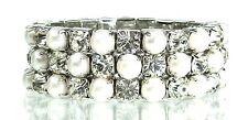 Modeschmuck-Armbänder aus gemischten Metallen mit Strass-Perlen für Damen