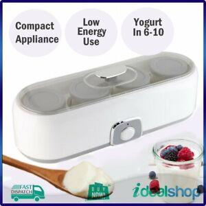 SABA Electric Yoghurt Maker! 4 180ml Glass Jars, Food Prep Individual Portions