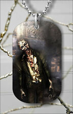 ZOMBIE MONSTER WORLD DOG TAG NECKLACE PENDANT FREE CHAIN -fv6x