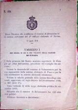 1892/465 Regio Decreto che costituisce comune di PADERNA in sez. di Alessandria
