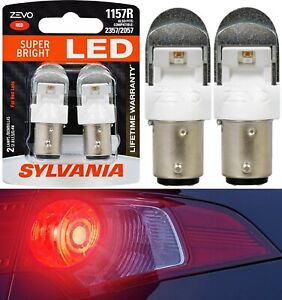 Sylvania ZEVO LED Light 1157 Red Two Bulbs Rear Turn Signal Replace Upgrade Lamp