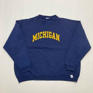 Y2K Russell Athletics Michigan Wolverines University Sweatshirt Youth Size L