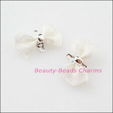 15Pcs Silver Plated Butterfly Bow-Knot Charms Pendants Connectors 9x18mm