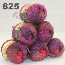 SALE LOT 6 Skeins x 50gr NEW Chunky Colorful Hand Knitting Scores Wool Yarn 825