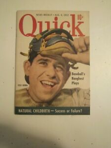"Yankees Yogi Berra ... Vintage Quick Magazine Aug. 4, 1952 Booklet 4"" x 6"""