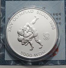 5 000 Won 1988 - Korea - Olympische Spiele in Seoul - Ringkämpfer - 1/2 oz Ag