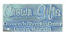 Vintage Printing Slug Block Stamp Crown Gifts Crossroads Shopping Center Omaha