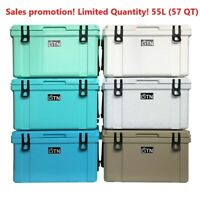 55 Quart High Performance Cooler, Grey, ice chest Caming, RotoMolded series