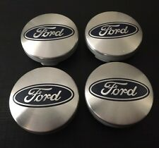 4x SILVER FORD FITS MOST NEW MODELS 54MM ALLOY WHEEL CENTRE CAPS