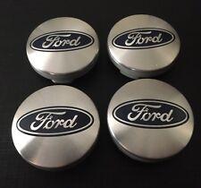 4x Plata Ford se adapta a la mayoría de los nuevos modelos 54MM Aleación Centro De Rueda Caps