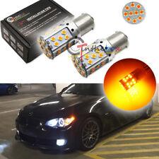 2PCS CAN-bus 21W Amber 7507 LED Bulbs Fit BMW 1 3 4 Series X5 Turn Signal Lights