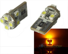 Amber/Yellow/Orange Canbus Error Free 501/W5W/T10/194 8 Smd LED Bulbs Lamp