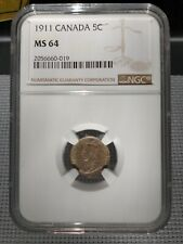 1911 5 Cent Canada MS-64 NGC - PRICE REDUCED!!!
