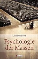 Psychologie der Massen von Gustave Le Bon (2009, Gebundene Ausgabe) OVP