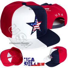 USA American Flag Baseball Hat Embroidered Cap Snapback Flat Bill America Hats