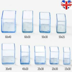 12 X Silicone Chair Leg Rectangle Covers Furniture Table Feet Floor Protectors