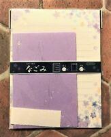 Letter Sheet Envelope Set  Belle Flower Purple Washi Stationery Japanese