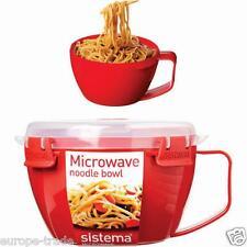 Sistema Quick Zuppa Noodle BOWL MICROONDE lavoro-UFFICIO-VIAGGIO-Home Red 940ml