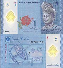 Malaysia P51, 1 Ringgit, King Tuanku Abdul Rahmanr, flower / moon kite POLYMER