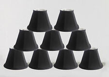 "Urbanest Empire Chandelier Lamp Shade in Silk,Set of 9,Soft Bell 3""x6""x5"" Black"