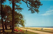 Mississippi Gulf Coast postcard U.S. Highway 90 overlooking the Gulf of Mexico