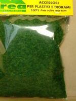 Prato in fli d'erba sintetica per modellismo verde scuro gr. 20 - Krea 1371