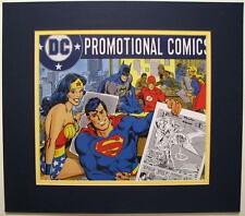 DC PROMOTIONAL COMICS ADVERTISEMENT MATTED PRINT Supergirl Wonder Woman Batman