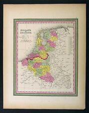 1850 Mitchell Map - Holland Belgium Netherlands Europe