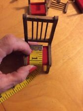 Vintage Doll House Furniture Wood Dining Room Set Chairs Tables Bx33